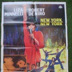 Cine: CARTEL CINE NEW YORK, NEW YORK LIZA MINNELLI ROBERT DE NIRO 1977 C1862. Lote 209910155