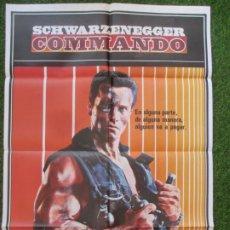 Cine: CARTEL CINE COMMANDO ARNOLD SCHWARZENEGGER 1985 C1865. Lote 209910985