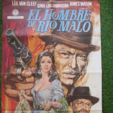 Cine: CARTEL CINE EL HOMBRE DE RIO MALO LEE VAN CLEEF GINA LOLLOBRIGIDA ESTUDIO GRAFICO 1972 C1870. Lote 209917090