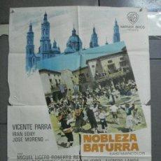 Cinema: CDO 3545 NOBLEZA BATURRA VICENTE PARRA JUAN DE ORDUÑA IRAN EORY POSTER ORIGINAL 70X100 ESTRENO. Lote 209944038