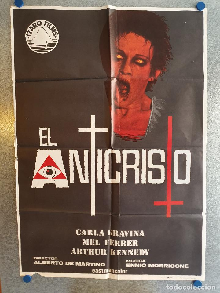 EL ANTICRISTO.CARLA GRAVINA, MEL FERRER, ARTHUR KENNEDY, GEORGE COULOURIS. AÑO 1975. POSTER ORIGINAL (Cine - Posters y Carteles - Terror)