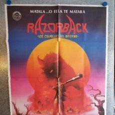 Cinema: RAZORBACK: LOS COLMILLOS DEL INFIERNO.GREGORY HARRISON, ARKIE WHITELEY. AÑO 1985. POSTER ORIGINAL. Lote 209964328