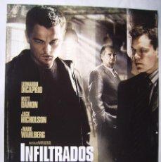 Cine: INFILTRADOS, CON LEONARDO DICAPRIO. POSTER 68,5 X 98,5 CMS. 2006.. Lote 209965663