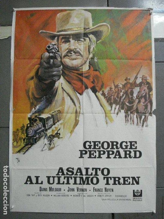 CDO 3551 ASALTO AL ULTIMO TREN GEORGE PEPPARD MCP POSTER ORIGINAL 70X100 ESTRENO (Cine - Posters y Carteles - Westerns)