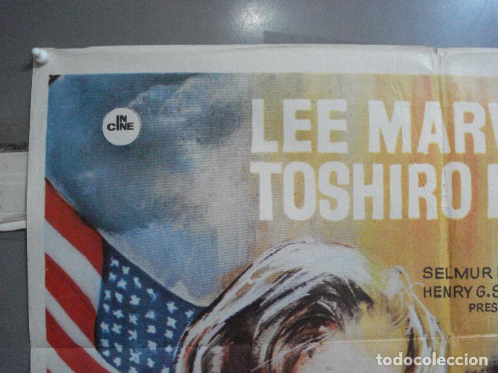 Cine: CDO 3556 INFIERNO EN EL PACIFICO LEE MARVIN TOSHIRO MIFUNE POSTER ORIGINAL 70X100 ESTRENO - Foto 2 - 210012276