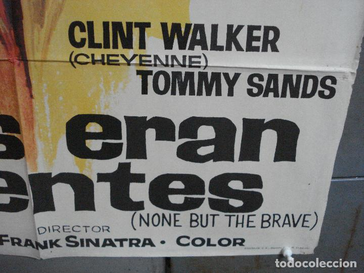 Cine: CDO 3557 TODOS ERAN VALIENTES FRANK SINATRA CLINT WALKER JANO POSTER ORIGINAL 70X100 ESTRENO - Foto 9 - 210012501