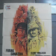 Cine: CDO 3557 TODOS ERAN VALIENTES FRANK SINATRA CLINT WALKER JANO POSTER ORIGINAL 70X100 ESTRENO. Lote 210012501