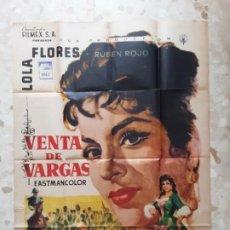 Cine: INTERESANTE CARTEL DE CINE ANTIGUO LOLA FLORES VENTA DE VARGAS. Lote 210013768