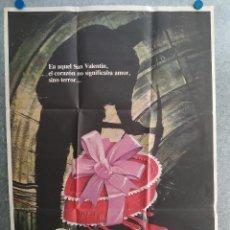 Cine: SAN VALENTIN SANGRIENTO. PAUL KELMAN, LORI HALLIER, NEIL AFFLECK. AÑO 1981. POSTER ORIGINAL. Lote 210030826