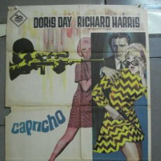 Cine: CDO 3572 CAPRICHO DORIS DAY RICHARD HARRIS POSTER ORIGINAL 70X100 ESTRENO. Lote 210032031