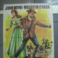 Cine: CDO 3576 EL GRAN MACLINTOCK JOHN WAYNE MAUREEN O'HARA JANO POSTER ORIGINAL 70X100 ESTRENO. Lote 210034163