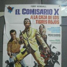 Cine: CDO 3586 EL COMISARIO X CAZA TIGRES ROJOS TONY KENDALL BRAD HARRIS POSTER ORIGINAL 70X100 ESTRENO. Lote 210041087