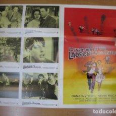 Cine: LA INVASION DE LOS LADRONES DE CUERPOS - 6 FOTOCROMOS Y POSTER CARTEL ORIGINALES DEL ESTRENO. Lote 210042676
