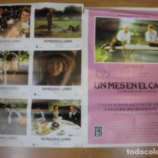 Cine: UN MES EN EL CAMPO - 6 FOTOCROMOS Y POSTER CARTEL ORIGINALES DEL ESTRENO COLIN FIRTH KENNETH BRANAGH. Lote 210042861