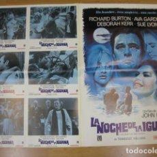 Cine: LA NOCHE DE LA IGUANA - 6 FOTOCROMOS Y POSTER CARTEL ORIGINALES REPOSICION AVA GARDNER DEBORAH KERR. Lote 210043003