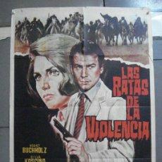 Cine: CDO 3592 LAS RATAS DE LA VIOLENCIA SYLVA KOSCINA HORST BUCHHOLZ JANO POSTER ORIGINAL 70X100 ESTRENO. Lote 210043295