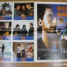 Cine: REEFER Y LA MODELO- 6 FOTOCROMOS Y POSTER CARTEL ORIGINALES DEL ESTRENO JOE COMERFORD IAN MCELHINNEY. Lote 210043668