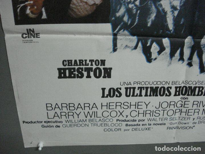 Cine: CDO 3595 LOS ULTIMOS HOMBRES DUROS CHARLTON HESTON JAMES COBURN POSTER ORIGINAL 70X100 ESTRENO - Foto 5 - 210044280