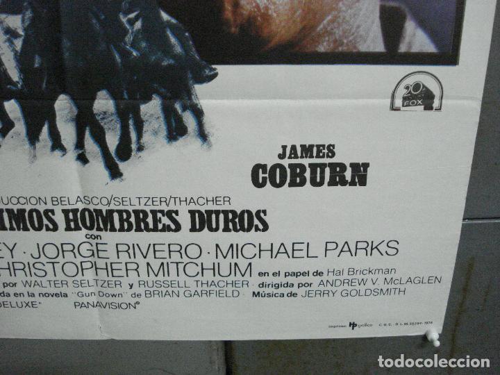 Cine: CDO 3595 LOS ULTIMOS HOMBRES DUROS CHARLTON HESTON JAMES COBURN POSTER ORIGINAL 70X100 ESTRENO - Foto 9 - 210044280