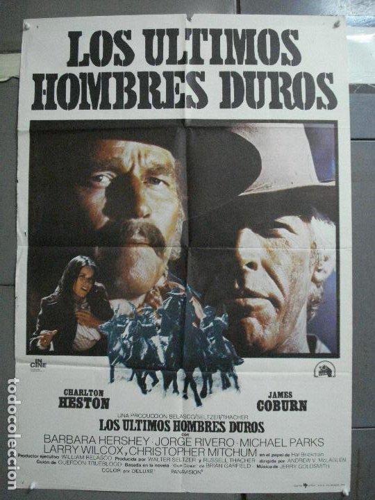 CDO 3595 LOS ULTIMOS HOMBRES DUROS CHARLTON HESTON JAMES COBURN POSTER ORIGINAL 70X100 ESTRENO (Cine - Posters y Carteles - Westerns)