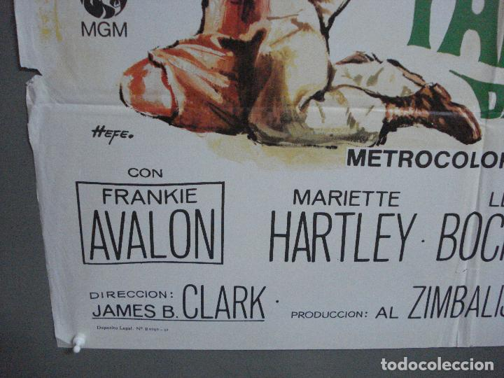 Cine: CDO 3598 TAMBORES DE AFRICA FRANKIE AVALON Hefe POSTER ORIGINAL 70X100 ESTRENO - Foto 5 - 210046470