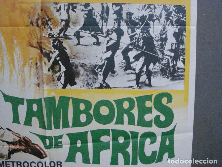 Cine: CDO 3598 TAMBORES DE AFRICA FRANKIE AVALON Hefe POSTER ORIGINAL 70X100 ESTRENO - Foto 8 - 210046470