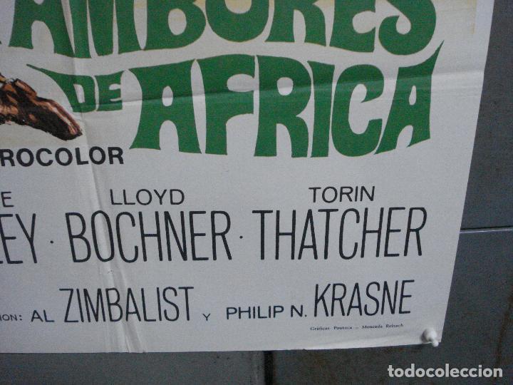 Cine: CDO 3598 TAMBORES DE AFRICA FRANKIE AVALON Hefe POSTER ORIGINAL 70X100 ESTRENO - Foto 9 - 210046470