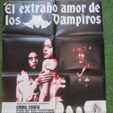 Cine: CARTEL CINE EL EXTRAÑO AMOR DE LOS VAMPIROS EMMA COHEN 1975 BOCACCIO C1872. Lote 210073231