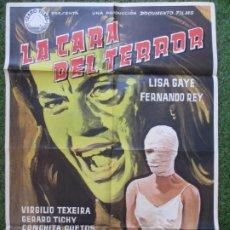 Cine: CARTEL CINE LA CARA DEL TERROR LISA GAYE FERNANDO REY 1962 IÑIGO C1882. Lote 210075135