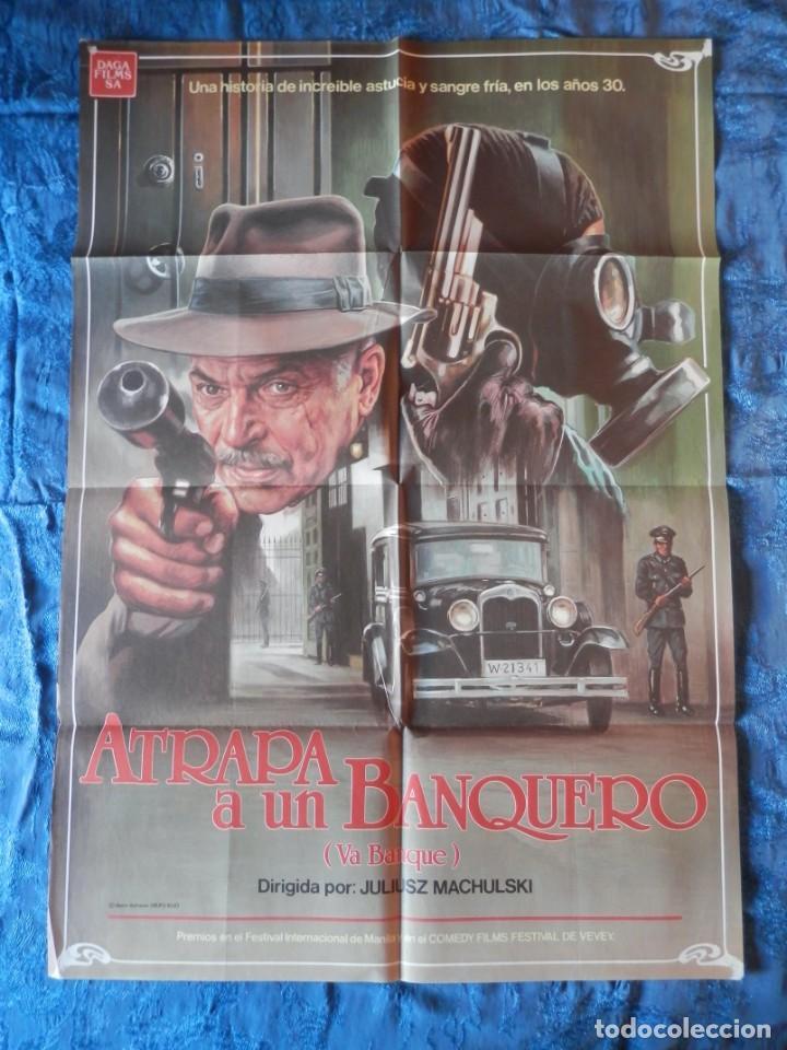 POSTER ORIGINAL: ATRAPA A UN BANQUERO DE 70 X 100 (Cine - Posters y Carteles - Clasico Español)