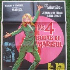 Cine: CARTEL CINE LAS 4 BODAS DE MARISOL JEAN CLAUDE PASCAL MARISOL JANO C1888. Lote 210081545