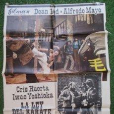 Cine: CARTEL CINE LA LEY DEL KARATE EN EL OESTE ALFREDO MAYO CRIS HUERTA 1974 C1904. Lote 210090342