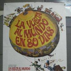 Cinema: CDO 3618 LA VUELTA AL MUNDO EN 80 DIAS CANTINFLAS JULIO VERNE POSTER ORIGINAL 70X100 ESPAÑOL R-77. Lote 210106443