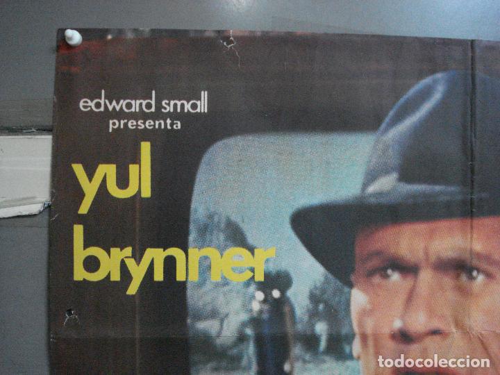 Cine: CDO 3624 LA HUELLA CONDUCE A LONDRES YUL BRYNNER POSTER ORIGINAL 70X100 ESTRENO - Foto 2 - 210108100