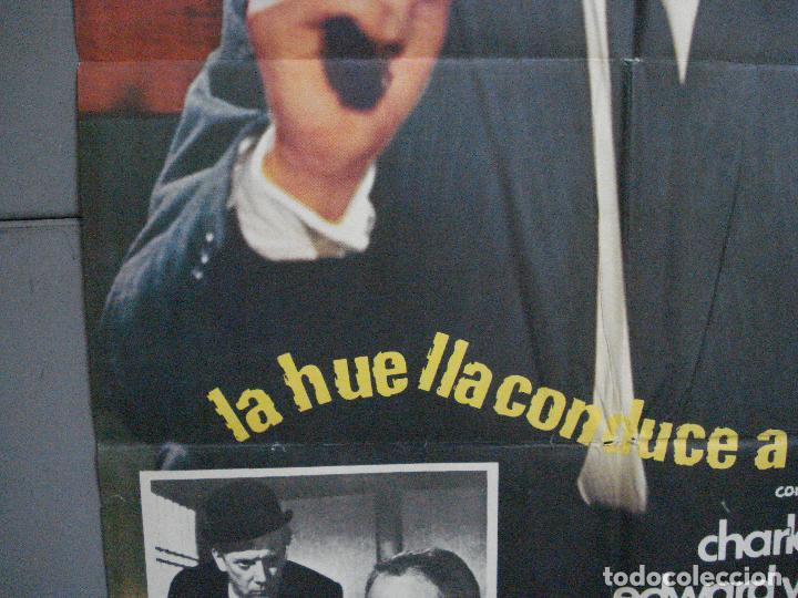 Cine: CDO 3624 LA HUELLA CONDUCE A LONDRES YUL BRYNNER POSTER ORIGINAL 70X100 ESTRENO - Foto 4 - 210108100