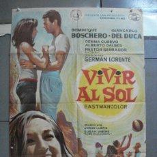 Cine: CDO 3629 VIVIR AL SOL GERMAN LORENTE GEMMA CUERVO POSTER ORIGINAL 70X100 ESTRENO. Lote 210109183