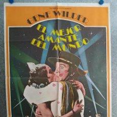 Cine: EL MEJOR AMANTE DEL MUNDO.GENE WILDER, CAROL KANE. AÑO 1978. POSTER ORIGINAL. Lote 210147363