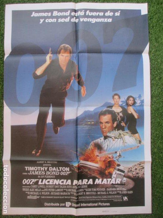 CARTEL CINE 007 LICENCIA PARA MATAR JAMES BOND TIMOTHY DALTON 1988 C1913 (Cine - Posters y Carteles - Acción)