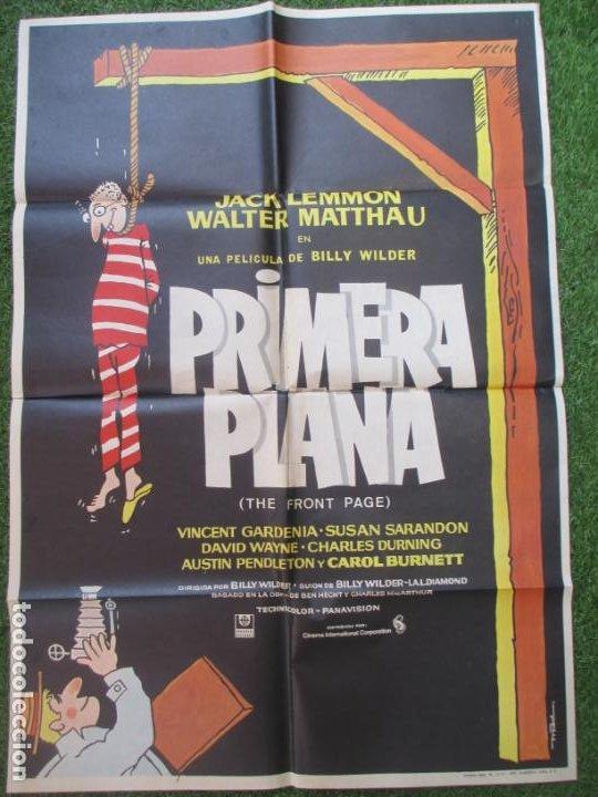 CARTEL CINE PRIMERA PLANA JACK LEMMON WALTER MATTHAU 1975 C1914 (Cine - Posters y Carteles - Acción)