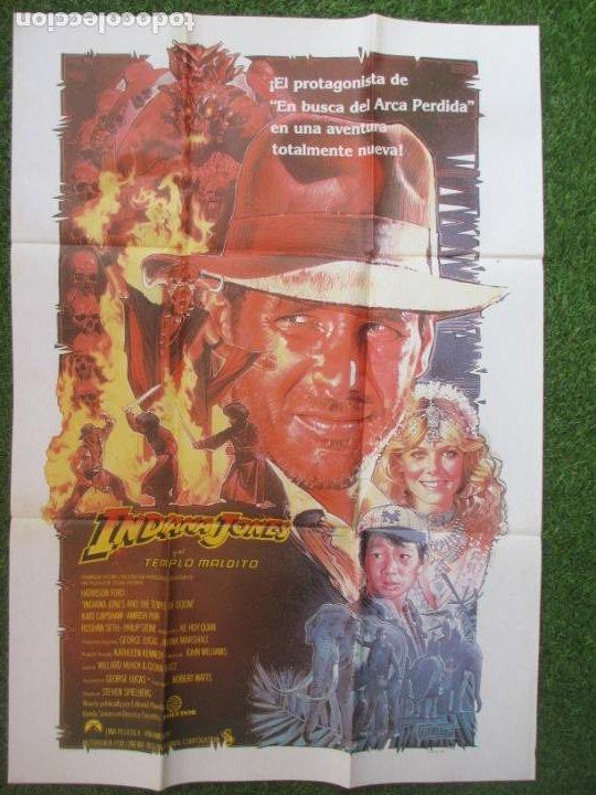 CARTEL CINE INDIANA JONES Y EL TEMPLO MALDITO HARRISON FORD 1984 C1916 (Cine - Posters y Carteles - Aventura)