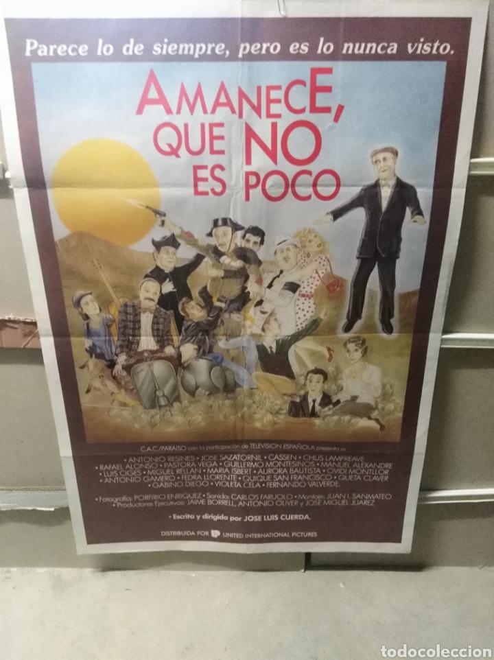 AMANECE QUE NO ES POCO VESPA JOSE LUIS CUERDA RESINES ALEXANDRE CASSEN POSTER ORIGINAL 70X100 (Cine - Posters y Carteles - Clasico Español)