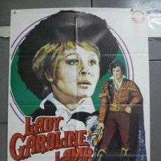 Cine: CDO 3666 LADY CAROLINE LAMB SARAH MILES RICHARD CHAMBERLAIN POSTER ORIGINAL ESTRENO 70X100. Lote 210194265