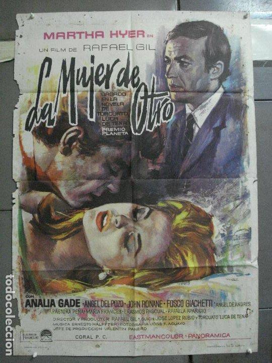 CDO 3667 LA MUJER DE OTRO MARTHA HYER RAFAEL GIL MAC POSTER ORIGINAL 70X100 ESTRENO (Cine- Posters y Carteles - Drama)