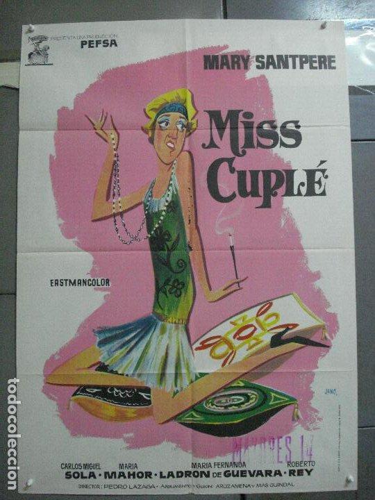 CDO 3672 MISS CUPLE MARY SANTPERE JANO POSTER ORIGINAL 70X100 ESPAÑOL R-73 (Cine - Posters y Carteles - Clasico Español)