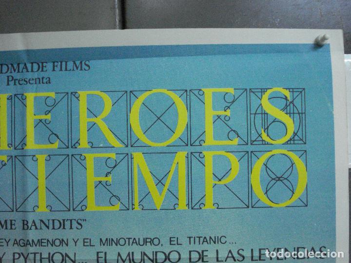 Cine: CDO 3674 LOS HEROES DEL TIEMPO MONTY PYTHON SEAN CONNERY GEORGE HARRISSON POSTER ORIG 70X100 ESTRENO - Foto 6 - 210197562