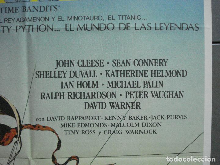 Cine: CDO 3674 LOS HEROES DEL TIEMPO MONTY PYTHON SEAN CONNERY GEORGE HARRISSON POSTER ORIG 70X100 ESTRENO - Foto 7 - 210197562