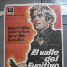 Cine: CDO 3689 EL VALLE DEL FUGITIVO ROBERT REDFORD KATHARINE ROSS POSTER ORIGINAL 70X100 ESTRENO. Lote 210204715