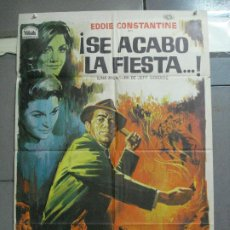 Cine: CDO 3693 SE ACABO LA FIESTA EDDIE CONSTANTINE POSTER 70X100 ESTRENO. Lote 210205686