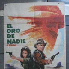 Cine: CDO 3701 EL ORO DE NADIE YUL BRYNNER RICHARD CRENNA LEONARD NIMOY POSTER ORIGINAL 70X100 ESTRENO. Lote 210207925