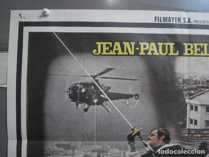Cine: CDO 3725 PANICO EN LA CIUDAD JEAN-PAUL BELMONDO POSTER ORIGINAL 70X100 ESTRENO - Foto 2 - 210225585